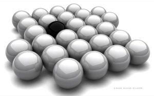 just-one-black-ball-background
